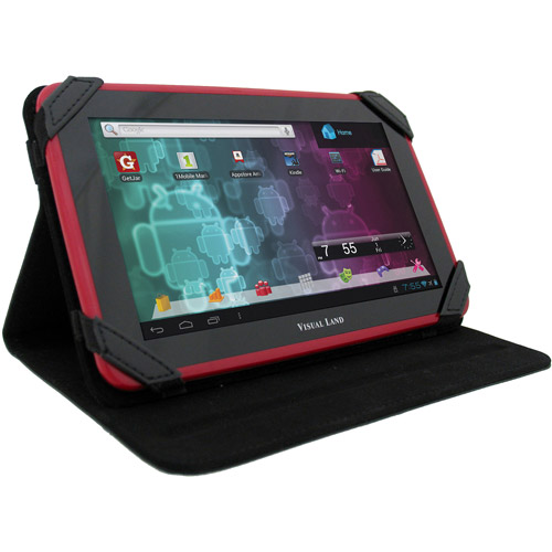 Visual Land Prestige 7 Tablet Case, (Assorted Colors)