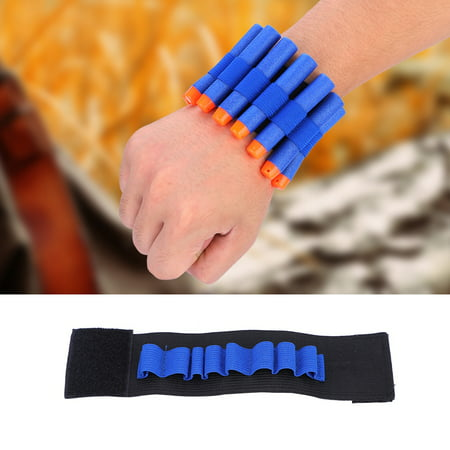 Yosoo Soft Bullet Dart Ammo Storage Wrist Belt Band Strap for Toy Gun Game, Soft Bullets Belt, EVA Bullets Wrist