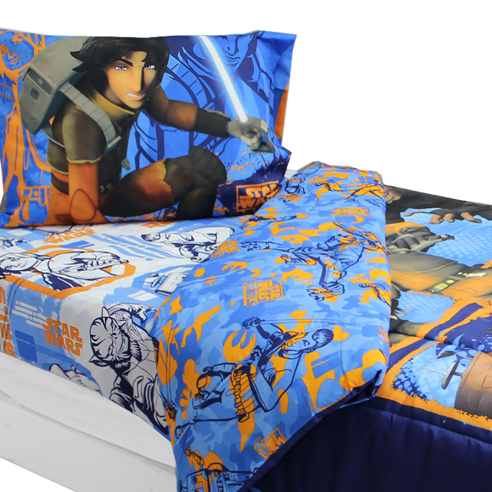 Store51 Llc 17245180 Star Wars Bedding Set Rebels Fight Comforter And Sheet Set
