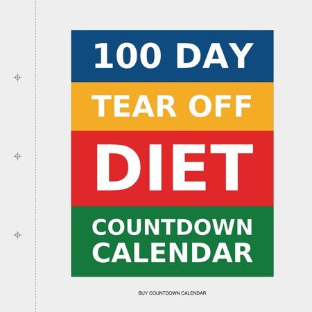 100 Day Tear-Off Diet Countdown Calendar (Paperback)(Large Print)