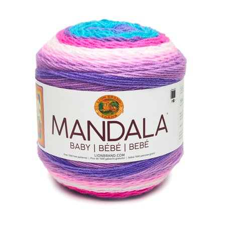 Mandala Baby Unicorn Cloud - New Color, Available in 12 bright and beautiful color combinations, Mandala Baby is the newest member of the Mandala yarn.., By Lion Brand
