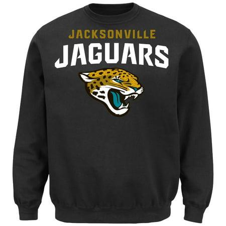 Jacksonville Jaguars Majestic NFL Critical Victory Crew Sweatshirt Black by