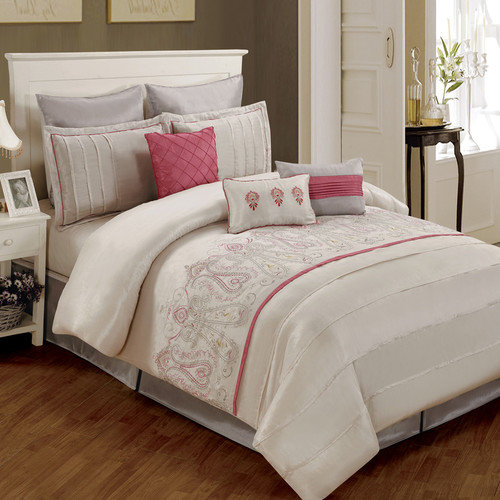 Luxury Home Paisley 8 Piece Comforter Set