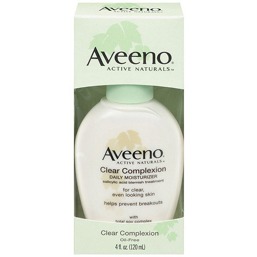 Aveeno Clear Complexion Daily Moisturizer, Pump Facial Moisturizers, 4 oz