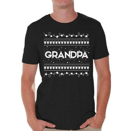 Awkward Styles Grandpa Shirt Christmas Tshirts for Men Christmas Grandpa Shirt Men's Holiday Top Best Grandpa T Shirt Funny Tacky Party Holiday Grandpa Ugly Christmas Tshirt Christmas Gift for