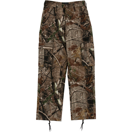 Realtree Xtra Men's Cargo Brushed Pants, Camo