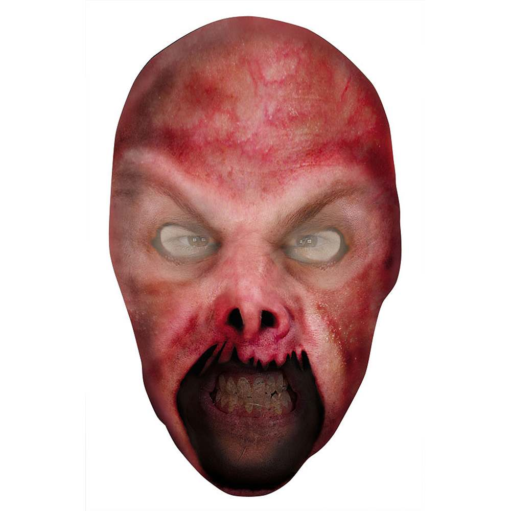 Teen Size Scary Evil Fire Demon Nylon Fabric Costume Mask