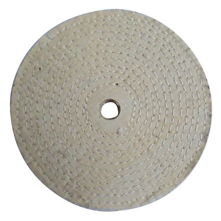 Buffing Wheel,Spiral Sewn,8 In Dia. ZORO SELECT 12U108
