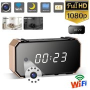 EEEKit WiFi Security Clock Camera Mini IP WiFi Camera HD 4K Nanny Cam Clock-Home Security Camera-IR Night Vision-Motion Activated Detection-Remote Monitoring Loop Recording Home Surveillance Cameras