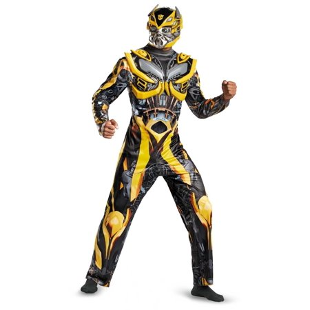 Adult Deluxe Bumblebee Transformers Autobots Soldier Costume (Adult Transformer Costumes)
