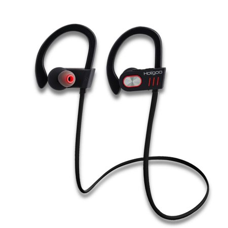 holigoo bluetooth headphones wireless earbuds 4 1 sports sweatproof earphones premium sound. Black Bedroom Furniture Sets. Home Design Ideas