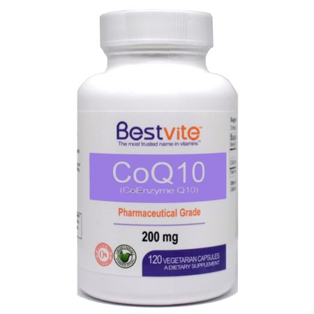 CoQ10 200mg (120 Vegetarian Capsules) Naturally Fermented ()