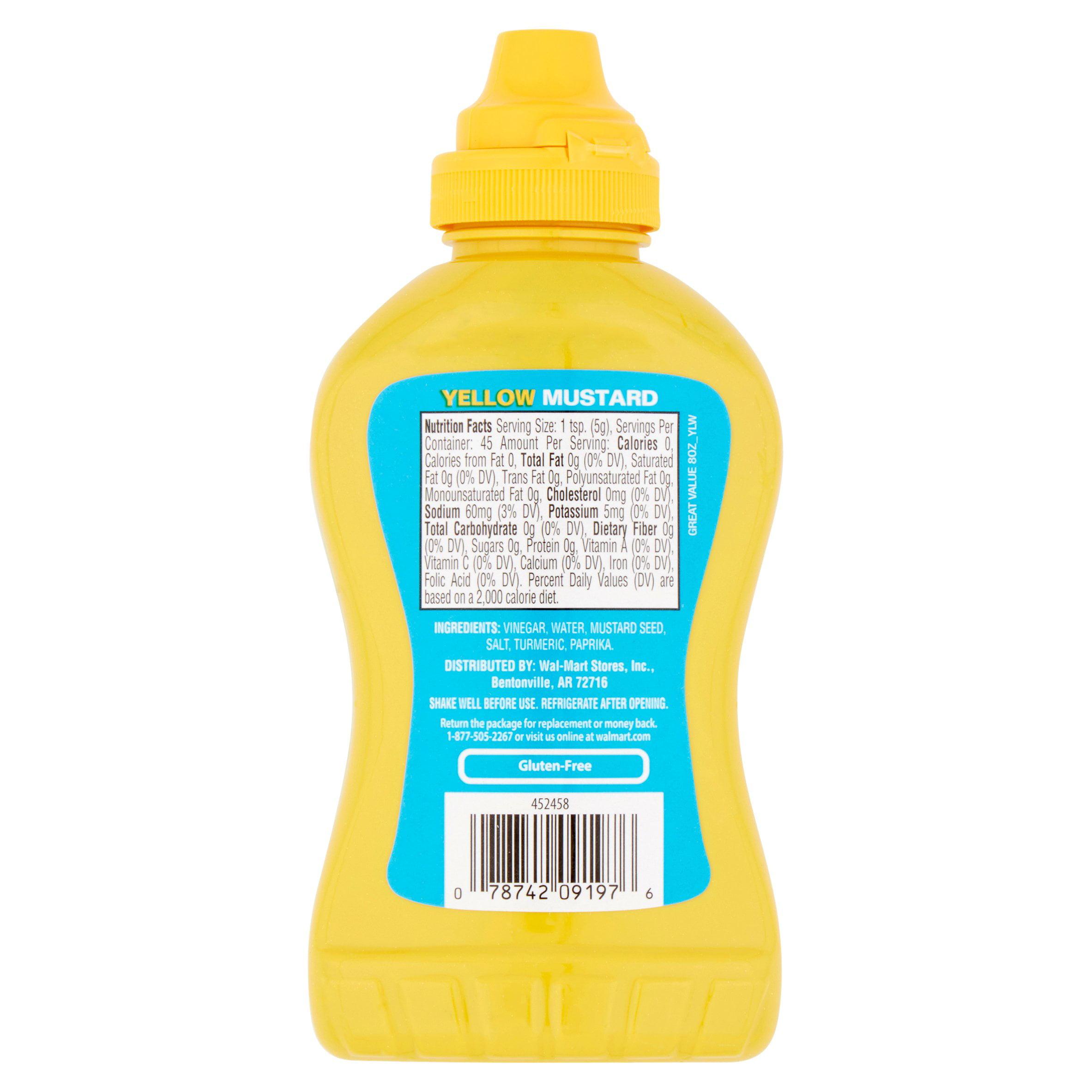 Great Value Yellow Mustard, 8 oz (4 Pack) - Walmart.com