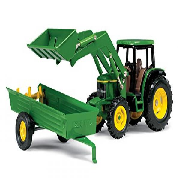 Ertl John Deere 6210 Tractor With Loader And Manure Spreader, 1:32 Scale by