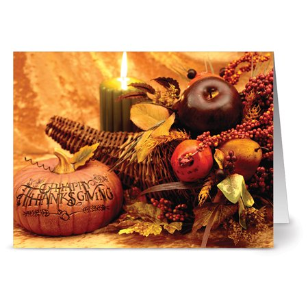 24 Thanksgiving Note Cards - Thanksgiving Centerpiece - Blank Cards - Kraft Envelopes Included