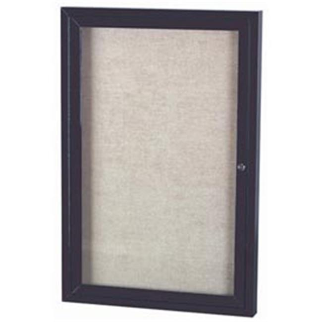 Aarco Products Outdoor Enclosed Bulletin Board - Anodized