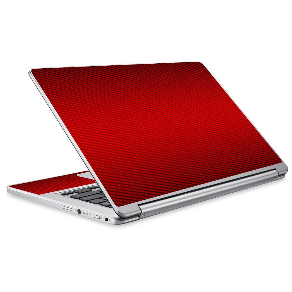 Skins Decals For Acer Chromebook R13 Laptop Vinyl Wrap / Red Carbon Fiber Graphite