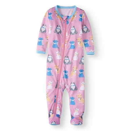 bb87b53ff Baby Girl Sleep  N Play Pajamas - Walmart.com