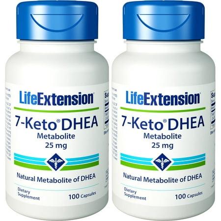 Life Extension 7 Keto DHEA 25mg 100 Caps 2 (Life Extension 7 Keto Dhea Metabolite 25 Mg)