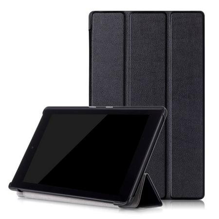 2017 7Th Gen  Amazon Fire Hd 8 Case  Epicgadget Tm  No Auto Sleep Wake Premium Leather Folding Folio Case For Fire Hd 8  8  Hd Display Tablet  Black