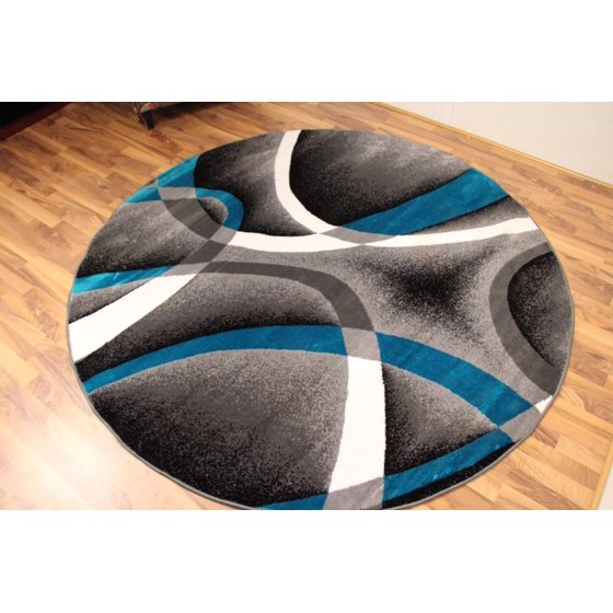 Turquoise Kitchen Rugs New Rug In The: Persian Rugs 2305 Turquoise 6 Foot Round Modern Abstract