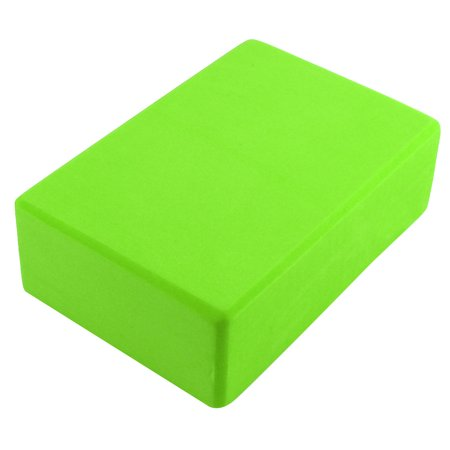 Gym Athletic Training EVA Foam Rectangle Shaped Pilates Yoga Block Brick Green