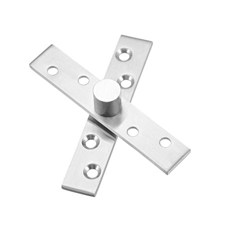 Uxcell 2 Sets Stainless Steel 360 Degree Door Pivot Hinge 95 x 18mm
