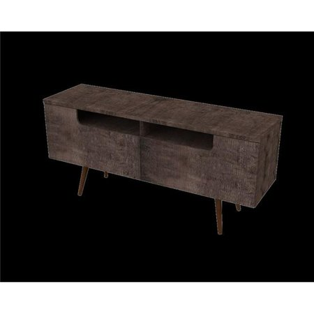 Ideaz International 23104Wt Terrarum Walnut Jensen Tv Stand   29 X 61 75 X 17 5 In