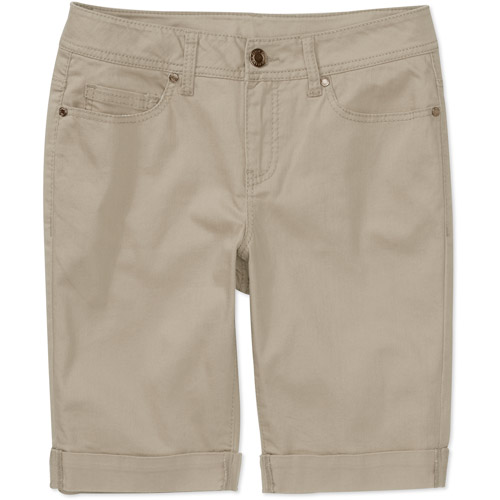 "Faded Glory Women's Colored Cuffed 10"" Bermuda Shorts"