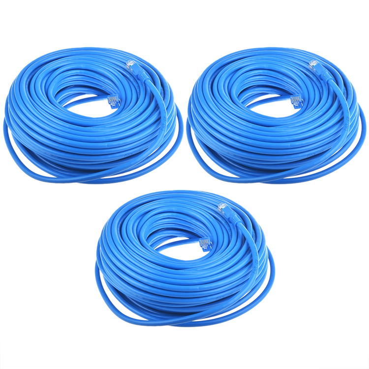 Jergo 100ft Rj45 Cat6 Ethernet Patch Cable Supports 24agw