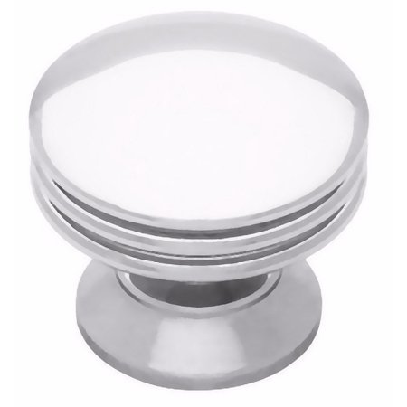 (5 Pack) Solid Brass Classic Polished Chrome Knob 1-3/16