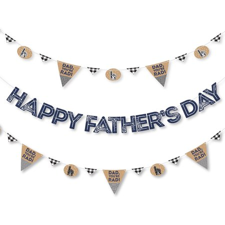 My Dad is Rad - Father's Day Letter Banner Decoration - 36 Banner Cutouts and Happy Father's Day Banner (Father's Day Banner)
