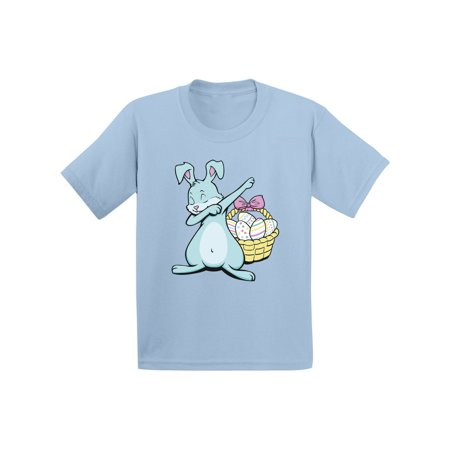 Awkward Styles Dabbing Easter Bunny Shirt for Toddlers Easter Bunny Tshirt Easter Shirt for Boys Happy Easter Easter Gifts for Girls Easter Bunny T Shirts Easter Holiday Shirts Easter Basket Stuffers (Easter For Toddlers)