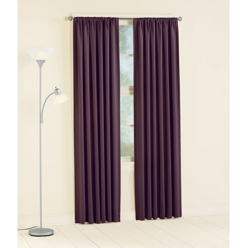 Mainstays Room Darkening Curtain Panel, Plum