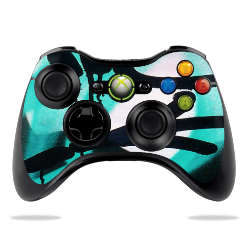 Protective Vinyl Skin Decal Cover for Microsoft Xbox 360 Controller wrap sticker skins Graffiti Tagz