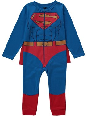 Superman Baby Boy & Toddler Boy One-Piece Costume Romper Outfit (12M-4T)
