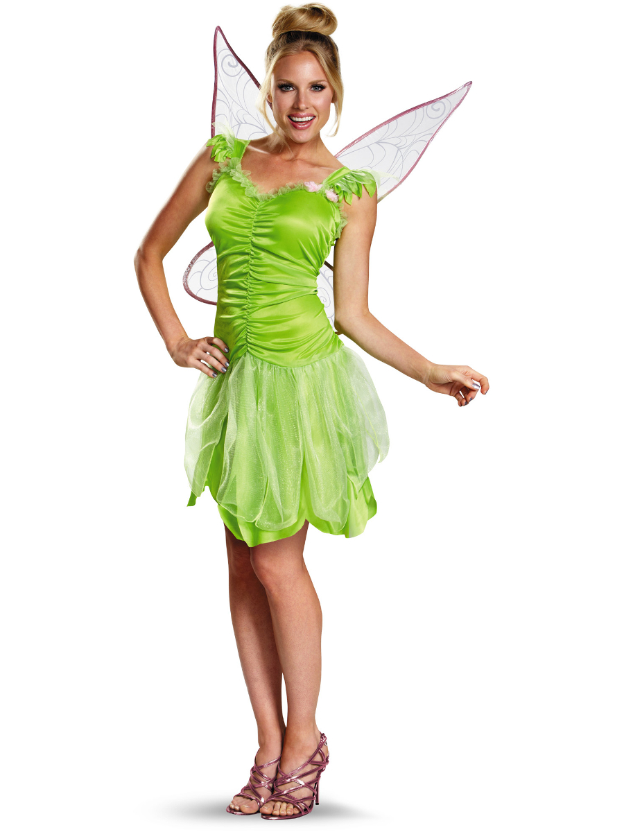 Adults Womens Classic Disney Peter Pan Tinker Bell Tinkerbell Costume Teen 7-9  sc 1 st  Walmart : tinkerbell costumes for babies  - Germanpascual.Com
