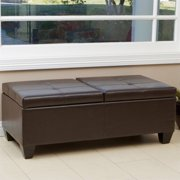 Noble House Abe Storage Ottoman in Brown