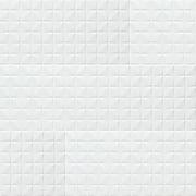Dymo Chex White Glossy 12 in. x 36 in. Glazed Ceramic Wall Tile ( 18 sq.ft. / case )