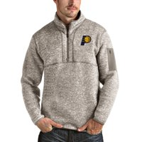 Indiana Pacers Antigua Fortune Quarter-Zip Pullover Jacket - Natural