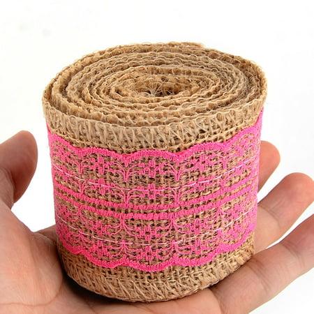 Décoration mariage DIY tricot dentelle Ruban jute rouleau corde sangle 2.2 Yards - image 3 de 5