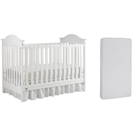 Fisher-Price Charlotte 3-in-1 Convertible Crib and Mattress Value Bundle ()