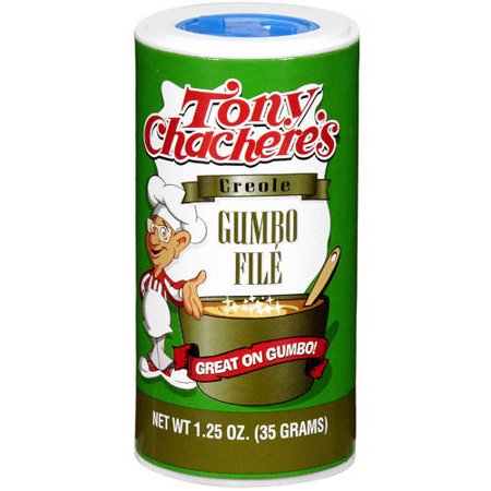 Tony Chacheres Creole Dry Gumbo File Sassafras Topping  1 25 Oz