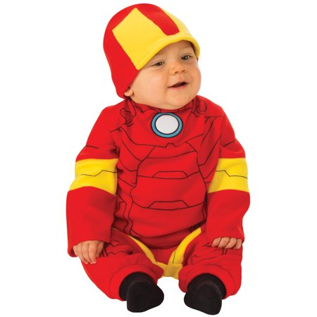 Marvel Classic Iron Man Infant Newborn Boys Jumpsuit Halloween Costume - Newborn Superhero Costumes