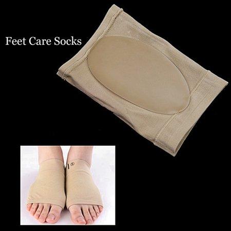 1 Pair Feet Care Pads Patch Socks Gel Plantar Fasciitis Arch Support Socks