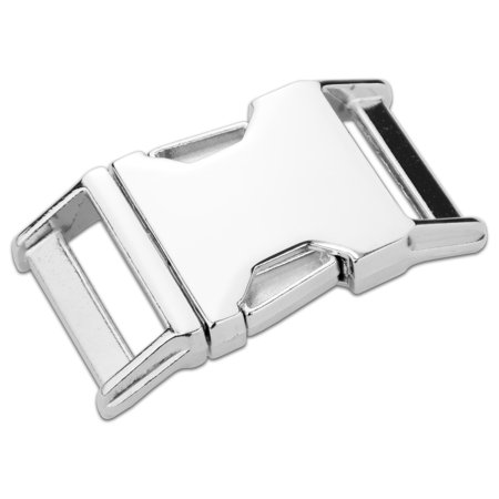 Release Buckle - Country Brook Design® 1 Inch Contoured Nickel Plated Side Release Buckles