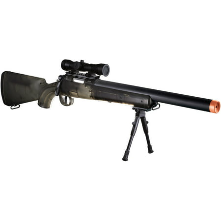 Gameface Long Rifle Kit with Scope, Smoke (Cheap Spring Airsoft Rifles)
