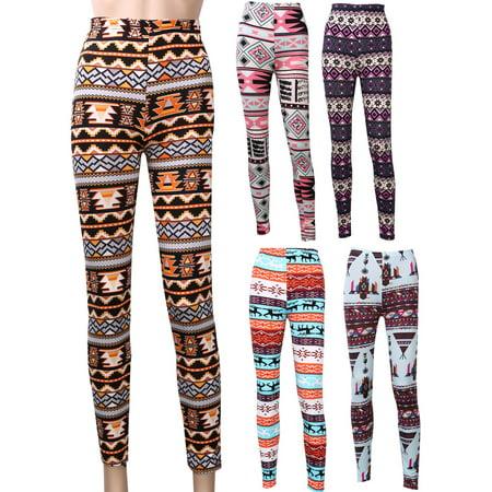 Womens Girls Christmas Animal Print Sports Leggings Stretch Pants Funny Trousers