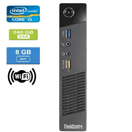 Refurbished: LENOVO M93 TINY Intel Core i5-4590T 2.00 GHz, 8GB, 240GB SSD, Win 10 Pro - image 1 de 4