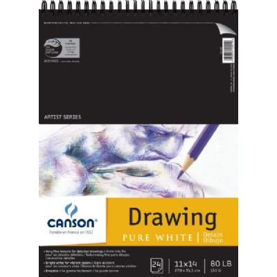 "Canson - Artist Series Pure White Drawing Pad - 11"" x 14"""